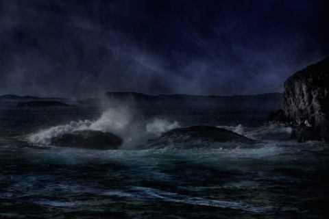 Breaking waves of artist Willy Marthinussen, Try, Sea, Love, West, Mood, Place, Storm, Coast