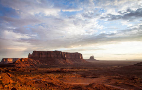 Monument Valley Sunrise of artist Paolo Gallo Modena P.IVA 11478570010, Sky, Red, Rock, Land, Nice, Park, Sands, Grand