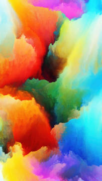 Dreaming of Colors of artist Andrew Ostrovsky, Art, Warp, Paint, Three, Cloud, Colour, Unreal, Heaven