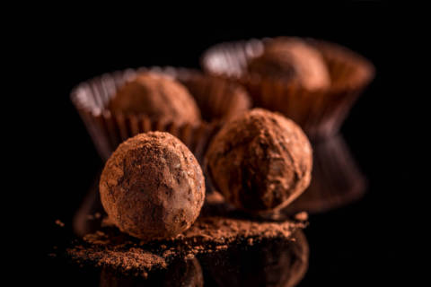 Chocolate truffles of artist Cseh Ioan, Raw, Food, Deep, Cocoa, Round, Vegan, Cacao, Candy