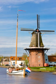 Burdaard, Friesland, Netherlands of artist Richard Semik, Town, Style, World, Mills, Travel, Canals, Western, Holland