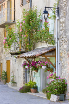 Rougon, Provence, France of artist Richard Semik, Town, Light, Style, Alpes, Rural, Roses, House, Gorge