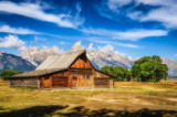 Martin Molcan - Grand Teton scenic view with abandoned barn on Mormon Row