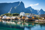 Lukasz Janyst - Picturesque fishing town of reine by the fjord on lofoten islands in norway