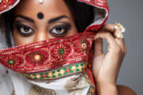 Tomas Anderson - Exotic Indian bride dressed up for wedding