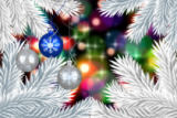 Wavebreakmedia ltd - Composite image of digital hanging christmas bauble decoration