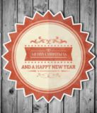 Wavebreakmedia ltd - Composite image of banner and logo saying merry christmas
