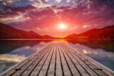 Tomas Anderson - Beautiful sunset view from a wooden platform