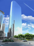 Leonello Calvetti - 3D rendering of a generic Modern Skyscraper viewed from below.