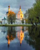 Sergey Borisov - Ortodox church and its reflection in a pond.