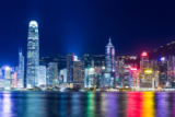 Leung Cho Pan - Hong Kong skyline at night