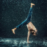 Volodymyr Melnyk - The male break dancer in water.