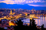 Dalibor Brlek - Aerial evening view of Split waterfront