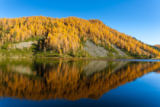 davide guidolin - Reflections on water, autumn panorama from mountain lake
