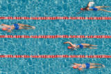 Thomas Lammeyer - Swimming tournament from bird's eye view